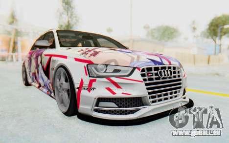 Audi S4 Avant Yurippe Angel Beats Itasha für GTA San Andreas Rückansicht