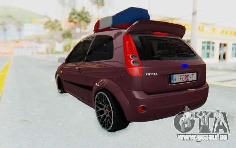 Ford Fiesta für GTA San Andreas zurück linke Ansicht