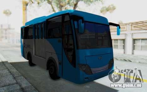Hino Evo-C Transjakarta Feeder Bus pour GTA San Andreas vue de droite