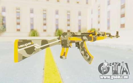 CS:GO - AK-47 Vanquish pour GTA San Andreas troisième écran