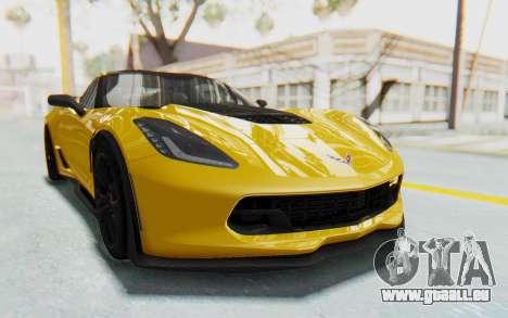 Chevrolet Corvette C7.R Z06 2015 pour GTA San Andreas vue arrière