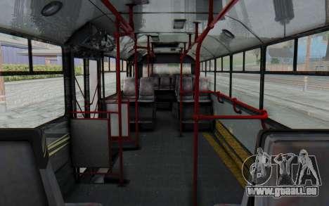 Pylife Bus pour GTA San Andreas vue intérieure