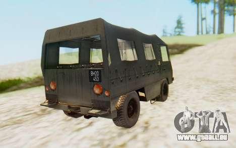 Pinzgauer 710M pour GTA San Andreas laissé vue