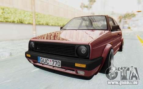 Volkswagen Golf Mk2 pour GTA San Andreas vue de droite