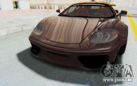Ferrari 360 Modena Liberty Walk LB Perfomance v1 für GTA San Andreas Innen