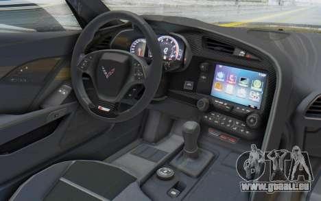 Chevrolet Corvette C7.R Z06 2015 pour GTA San Andreas vue de droite