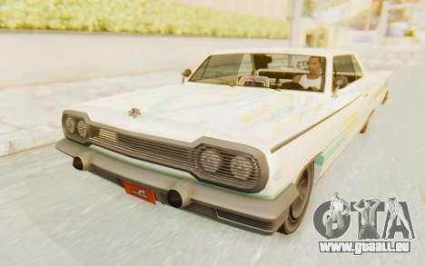 GTA 5 Declasse Voodoo Alternative v1 für GTA San Andreas Unteransicht