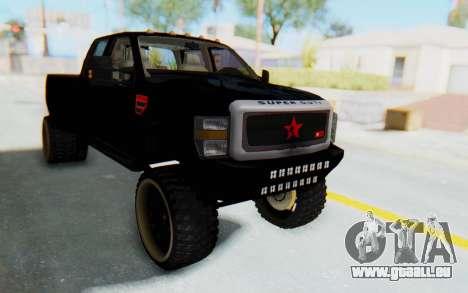 Ford Super Duty Off-Road pour GTA San Andreas vue de droite