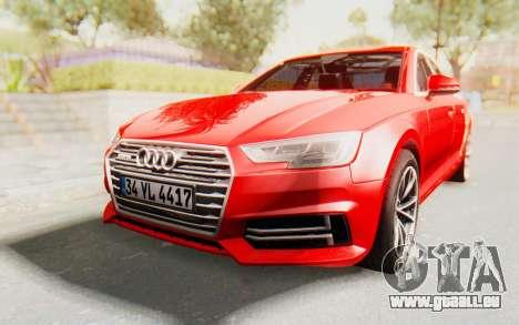 Audi A4 2017 IVF für GTA San Andreas zurück linke Ansicht