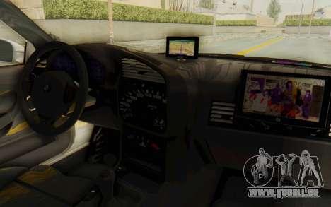 BMW M3 E36 Police Indonesia pour GTA San Andreas vue de côté