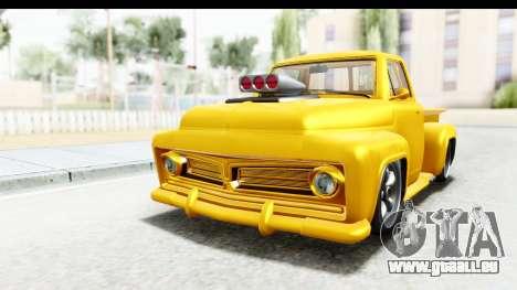 GTA 5 Vapid Slamvan without Hydro pour GTA San Andreas sur la vue arrière gauche