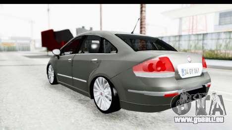 Fiat Linea 2014 für GTA San Andreas linke Ansicht