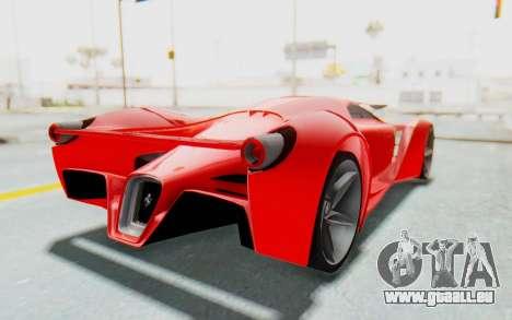 Ferrari F80 Concept 2015 Beta pour GTA San Andreas vue de droite
