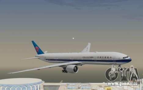 Boeing 777-300ER China Southern Airlines pour GTA San Andreas sur la vue arrière gauche