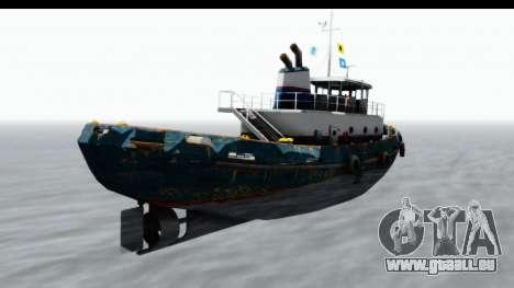 GTA 5 Buckingham Tug Boat v1 IVF für GTA San Andreas linke Ansicht