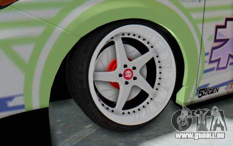 Toyota Prius Hybrid 2011 Hellaflush IF Itasha für GTA San Andreas Rückansicht