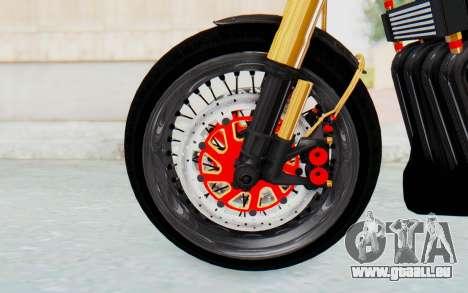 Kawasaki Z1000 Moghe Cafe Racer für GTA San Andreas Rückansicht