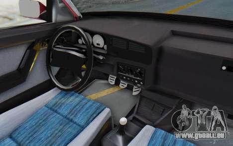 Volkswagen Golf 3 1994 für GTA San Andreas Innenansicht