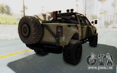 Toyota Hilux Technical Desert pour GTA San Andreas sur la vue arrière gauche