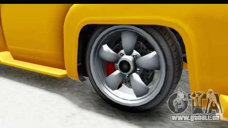 GTA 5 Vapid Slamvan without Hydro pour GTA San Andreas vue arrière