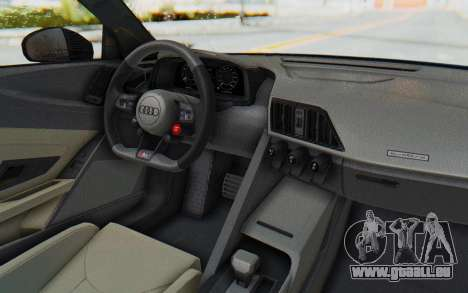 Audi R8 V10 2017 v2.0 pour GTA San Andreas vue de droite