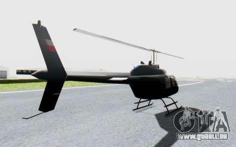 Bell 206B-III Jet Ranger Policja für GTA San Andreas zurück linke Ansicht