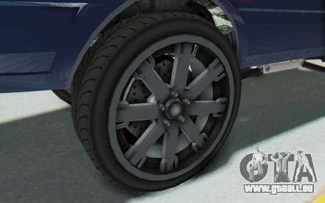 GTA 5 Willard Faction Custom Donk v1 für GTA San Andreas Rückansicht