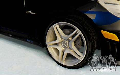 Mercedes-Benz E63 German Police Blue für GTA San Andreas Rückansicht