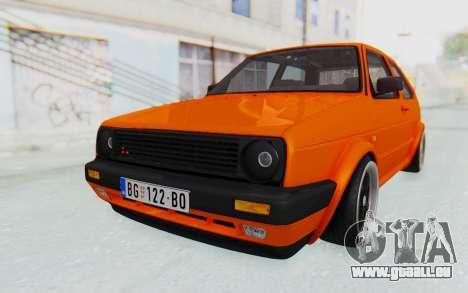 Volkswagen Golf 2 GTI 1.6V pour GTA San Andreas