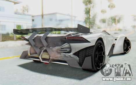 GTA 5 Grotti Prototipo v2 pour GTA San Andreas laissé vue