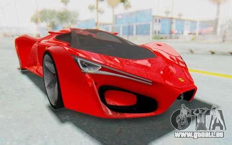Ferrari F80 Concept 2015 Beta pour GTA San Andreas