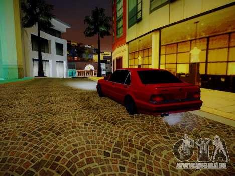 Mercedes Benz W140 Brabus pour GTA San Andreas sur la vue arrière gauche