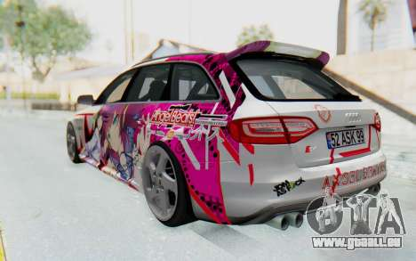 Audi S4 Avant Yurippe Angel Beats Itasha pour GTA San Andreas laissé vue