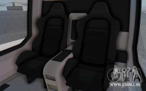 GTA 5 Buckingham Volatus v1 IVF für GTA San Andreas Innenansicht