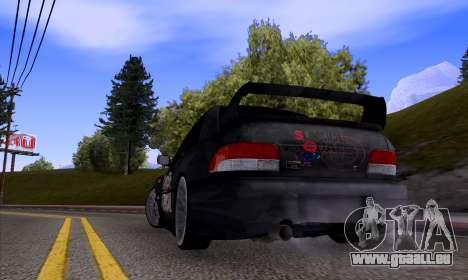 Subaru impreza 22B (SUICIDE SQUAD) pour GTA San Andreas vue de droite