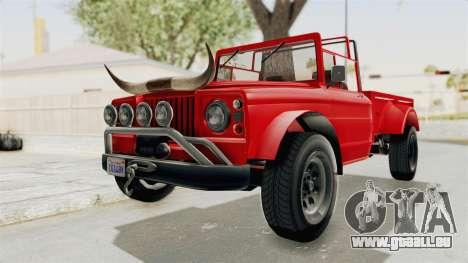 GTA 5 Canis Bodhi IVF pour GTA San Andreas vue de droite