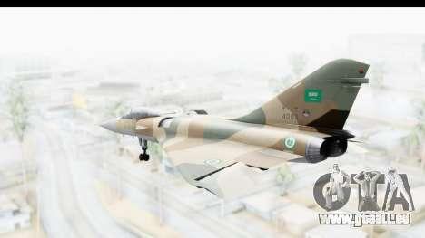 Dassault Mirage 4000 Royal Saudi Air Force pour GTA San Andreas laissé vue