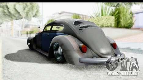 Volkswagen Beetle 1963 Hotrod pour GTA San Andreas vue de droite