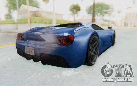 GTA 5 Vapid FMJ für GTA San Andreas zurück linke Ansicht