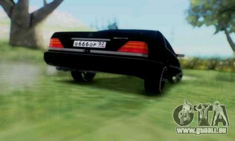Mercedes-Benz MB W140 1999 pour GTA San Andreas vue intérieure