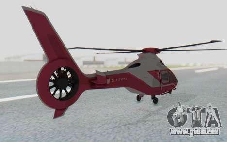 GTA 5 Buckingham Volatus v2 IVF pour GTA San Andreas sur la vue arrière gauche