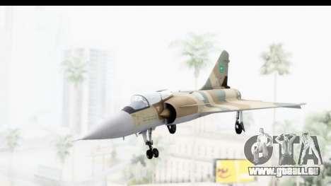 Dassault Mirage 4000 Royal Saudi Air Force pour GTA San Andreas sur la vue arrière gauche