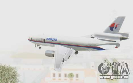 DC-10-30 Malaysia Airlines (Old Livery) pour GTA San Andreas vue de droite