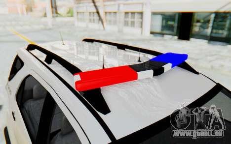 Toyota Fortuner 4WD 2015 Paraguay Police für GTA San Andreas Seitenansicht