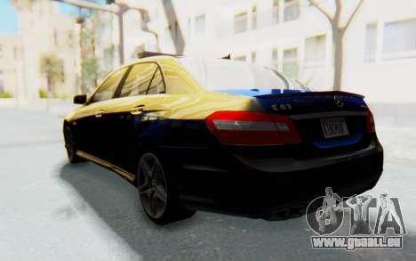 Mercedes-Benz E63 German Police Blue pour GTA San Andreas laissé vue