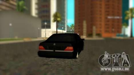 Mercedes-Benz S600 W140 AMG pour GTA San Andreas laissé vue