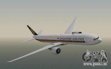 Boeing 777-300ER Singapore Airlines v1 für GTA San Andreas zurück linke Ansicht