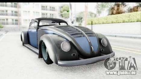 Volkswagen Beetle 1963 Hotrod pour GTA San Andreas sur la vue arrière gauche