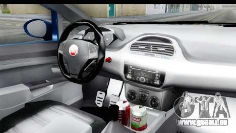 Fiat Linea 2014 Wheels pour GTA San Andreas vue intérieure