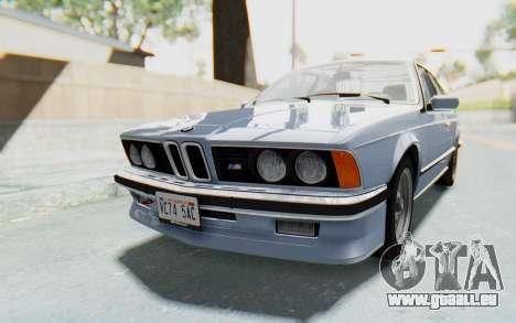 BMW M635 CSi (E24) 1984 IVF PJ1 pour GTA San Andreas vue de droite